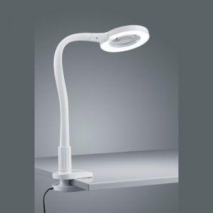 buro/loupelamp + klem  Led 5 Watt  wit