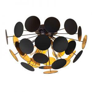 Plafonniere lamp DISCALGO zwart
