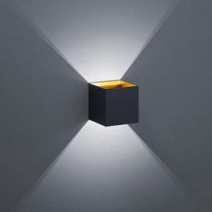 Wandlamp louis Led  4.5 Watt 3000K. 430lm zwart