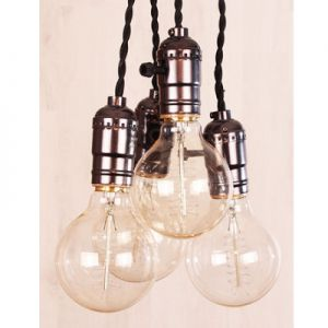 Industriële pendel lamp 4x voor LED