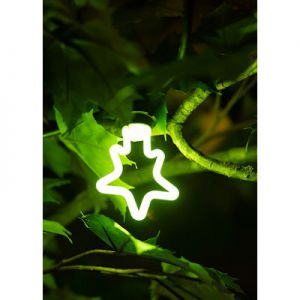 LED neon star groen