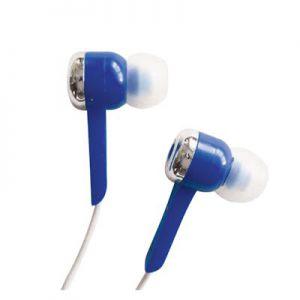 In ear headphone blue.