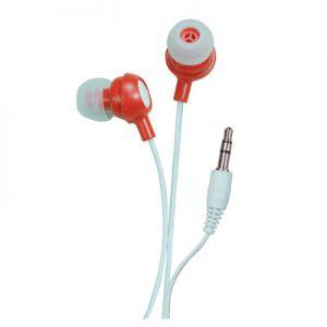In ear headphone red.
