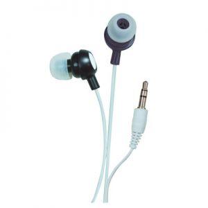 In ear headphone black.
