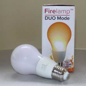 Fire effect lamp Opaal 68 Leds A60 Wit