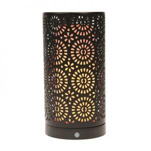 Fire effect tafellamp opaal 96LEDs zwart met cover