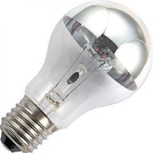 Kopspiegel 100 watt Zilver    t
