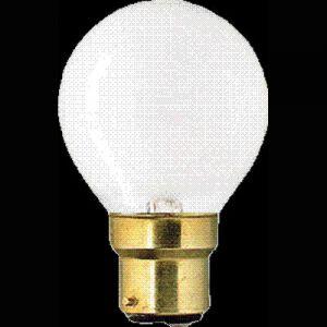 Kogellamp 15 watt Mat B22d