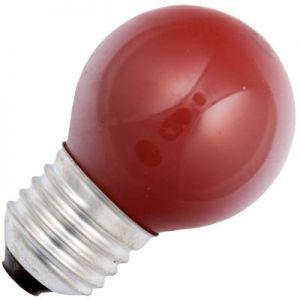 Kogellamp 15 watt E27 Mat Rood