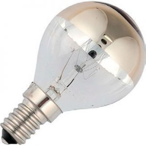 Kogel Kopspiegellamp 25 watt Goud E14