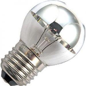 Kogel Kopspiegellamp 15 watt Zilver E27