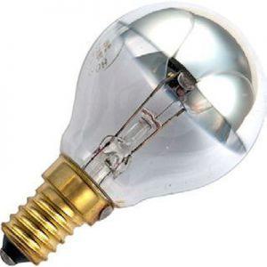 Kogel Kopspiegellamp 15 watt Zilver E14