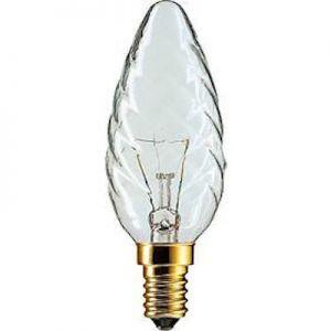 Kaarslamp Gedraaid 15 watt Helder E14