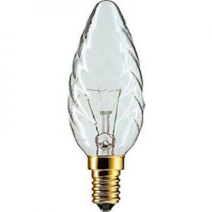Kaarslamp Gedraaid 40 watt Helder E14