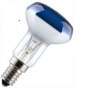 Reflectorlamp 25 watt E14 50mm Blauw