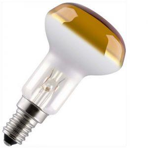 Reflectorlamp 25 watt E14 50mm Geel