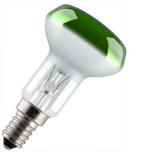 Reflectorlamp 25 watt E14 50mm Groen