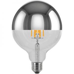 LED globelamp kopspiegel zilver  8W