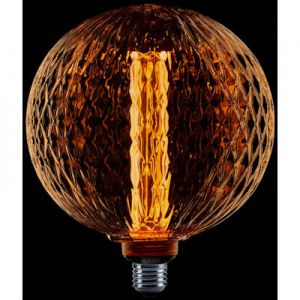 LED kooldraad globe lamp ribbel 200