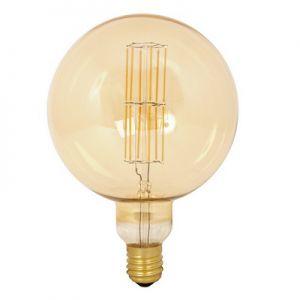 Calex-LED-Full-Glass-LongFilament-MegaGlobe-240V-11W-E40-G200,-Gold-2100K-Dimmable