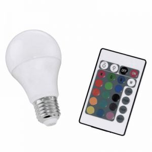 LED lamp e27 multicolor met afstandbediening