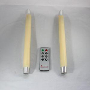 2x LED imitatie kaars op batterijen creme