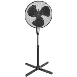 Ventilator staand zwart 45cm met afstandbediening