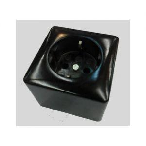 Opbouw stopcontact 1xra zwart