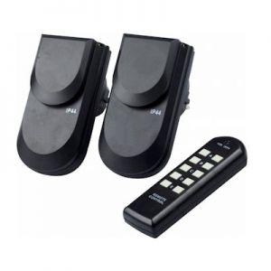Stopcontact voor buiten met afstandbediening 2 stuks