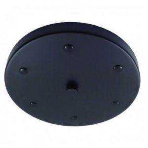 Plafondkap zwart 20cm.