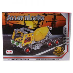 Bouwset metalen cementwagen