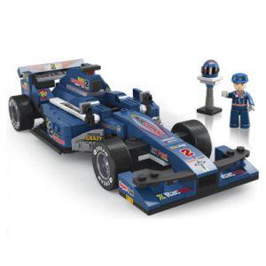 BOUWSTENEN: RACE AUTO BLAUW